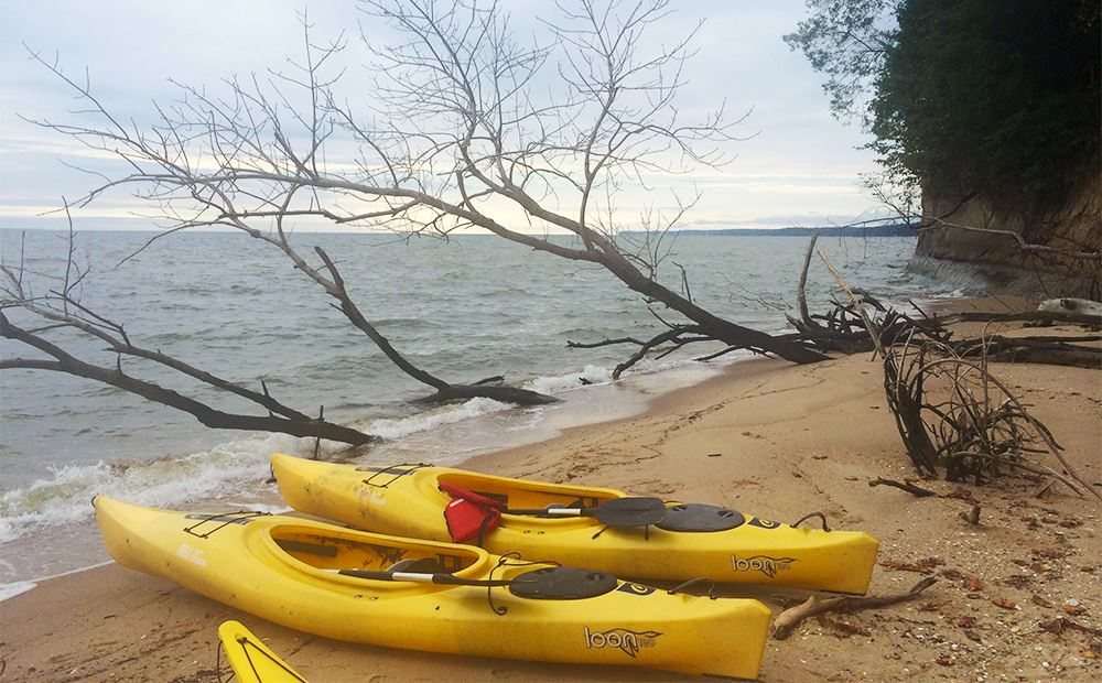 Kayaks by the Water