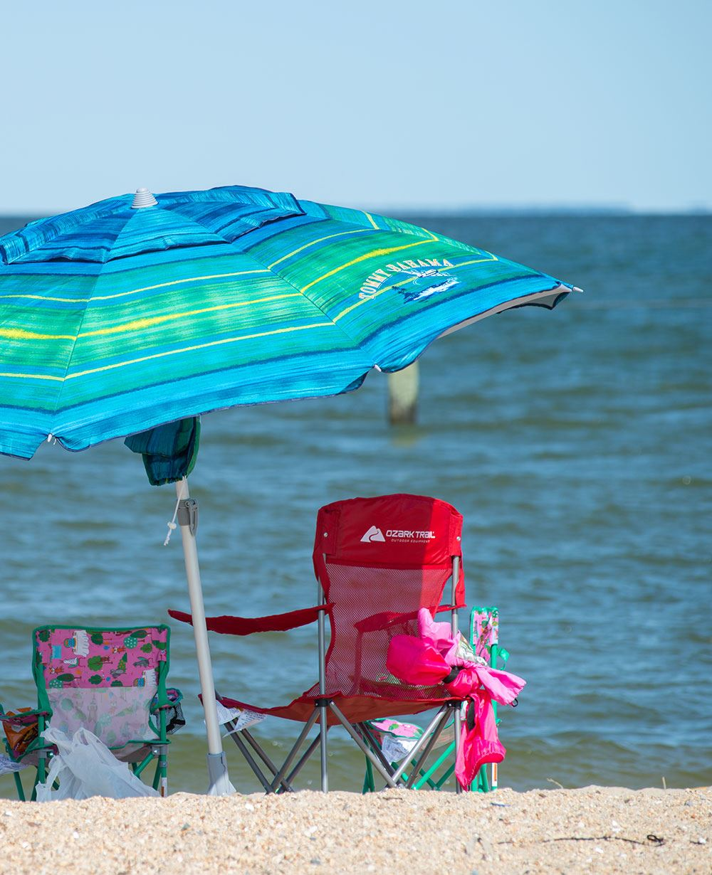 Chairs at Breezy Point Beach