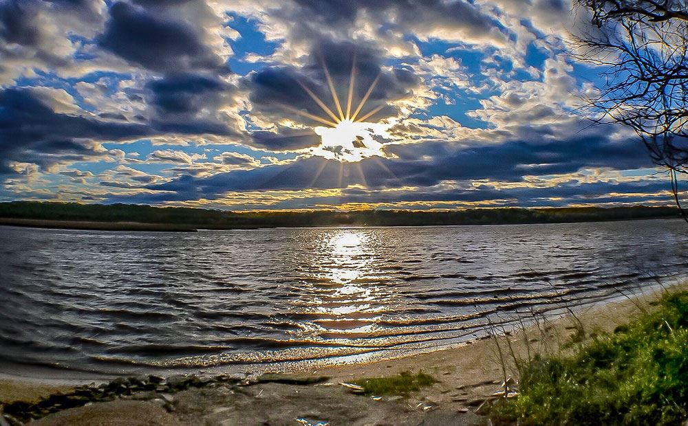 Patuxent River from Lower Marlboro Road by Kimberly Shatrowsky