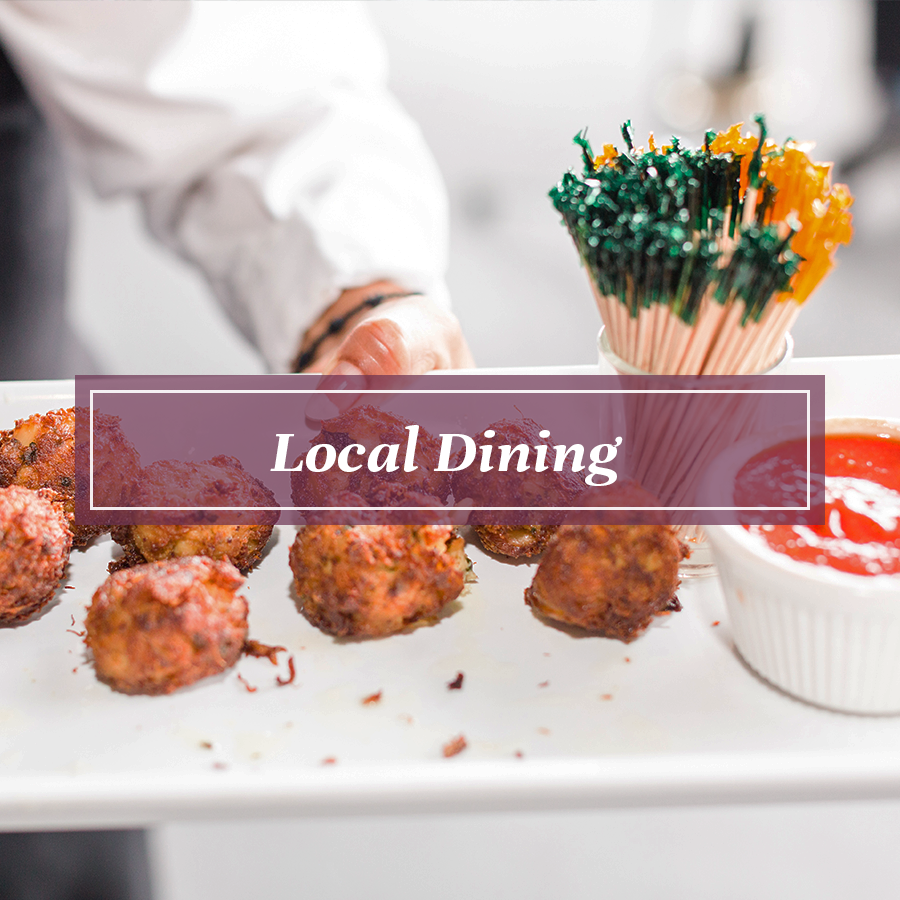 Weddings Button for Local Dining Options
